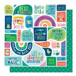 American Crafts - Never Grow Up -  Everyday Magic 12 x 12 Paper